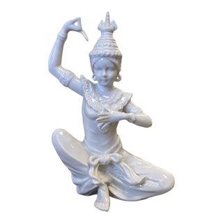 Vintage Blanc De Chin Thai Porcelain Figurine For Sale