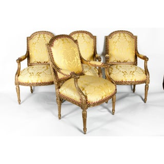 Early 19th Century Louis XVI Style Giltwood Frame Fauteuils Preview