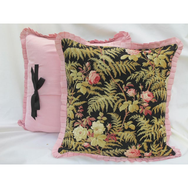19th C. French Fabric Pillows - A Pair - Image 3 of 3