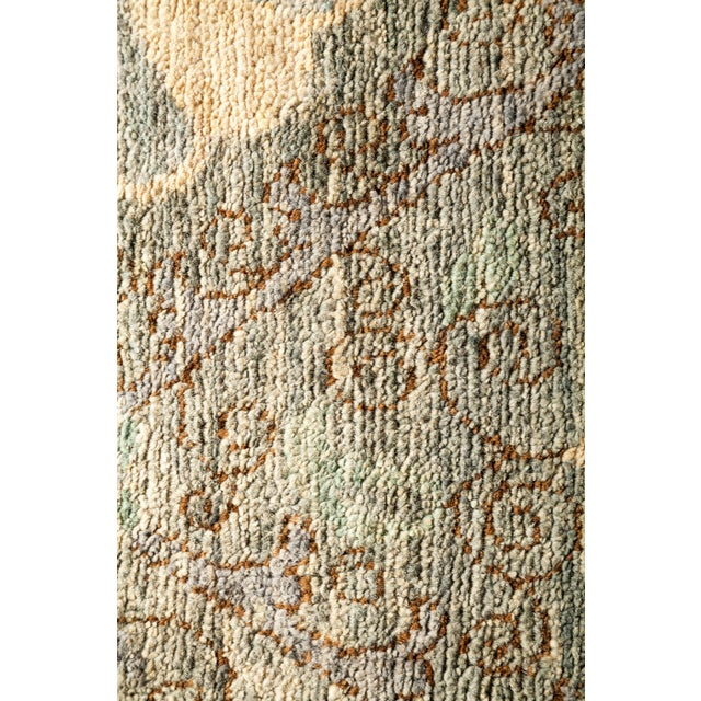 """Contemporary Suzani Hand-Knotted Area Rug 8' 1"""" x 10' 4"""" For Sale - Image 3 of 4"""