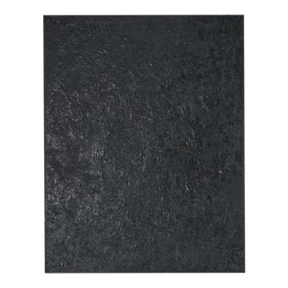 Large Scale Black Abstract Painting by Louis Papp (1930-2012) For Sale
