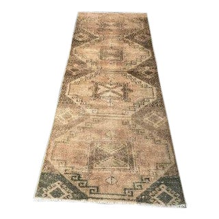 1960s Vintage Hand-Knotted Runner Rug - 2′8″ × 7′10″ For Sale