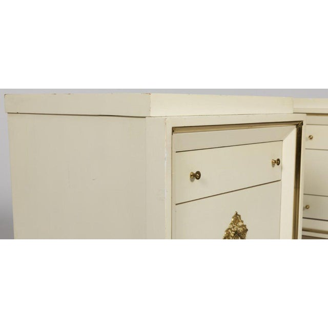 Hollywood Regency Hollywood Regency White Lacquer Nightstands - a Pair For Sale - Image 3 of 4