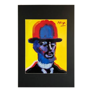 Peter Max Acrylic Mixed Media on Lithograph For Sale