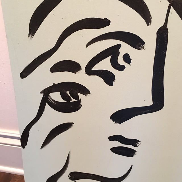 1970s Peter Keil Cubist Profile Abstract Paintings - a Pair For Sale - Image 5 of 12