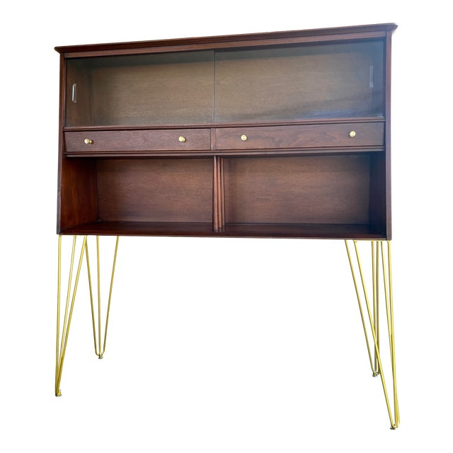 Mid Century Modern Hairpin Cabinet For Sale