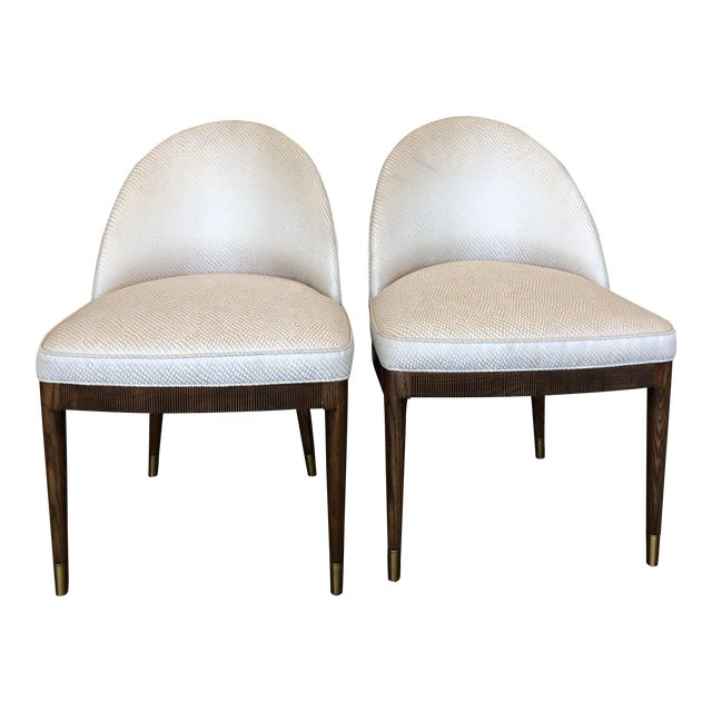Modern Hickory Chair Lauren Dining Chairs- A Pair For Sale