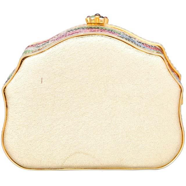 Judith Leiber Judith Leiber Sweat Meat Box Pop Art Novelty Gold Minaudiere Evening Bag Vintage For Sale - Image 4 of 5