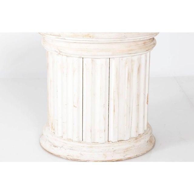White Fluted Column Pedestal For Sale - Image 8 of 10