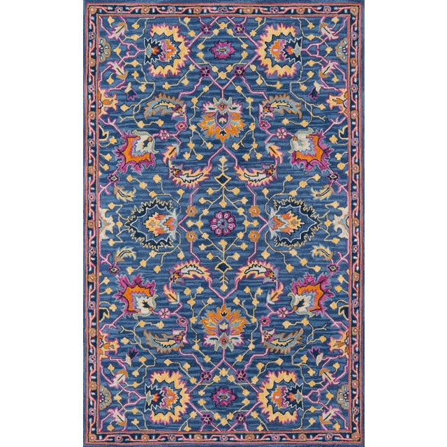 Ibiza Blue Hand Tufted Area Rug 3' X 5' For Sale