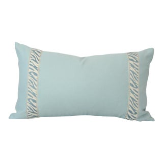 Cornflower Blue With Zebra Trim Pillow Cover 11x19