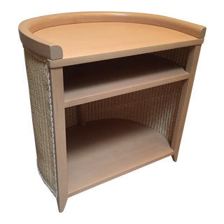 Wicker and Beechwood Side Table by Loom Italia For Sale