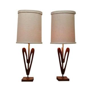 Mid-Century Danish Modern Lamps - Pair For Sale