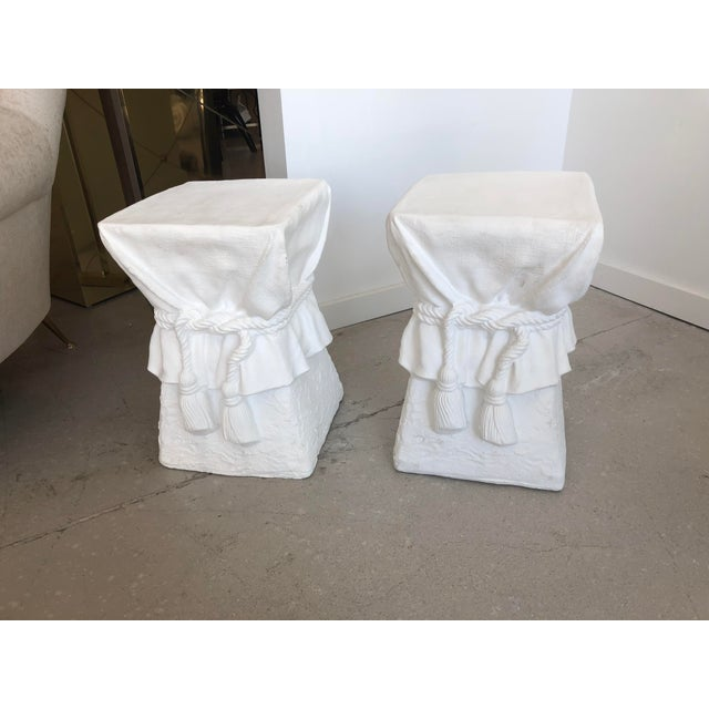 Pair of White Composition Tables -Style of John Dickinson For Sale - Image 4 of 6