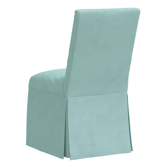 Slipcover Dining Chair in Velvet Caribbean For Sale - Image 4 of 8
