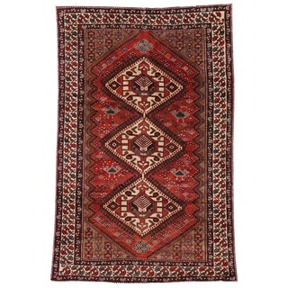 20th Century Nahavand Hamadan Persian Area Rug - 6′4″ × 9′10″ For Sale