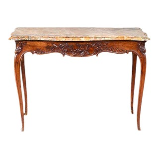 Antique Louis XV Style Marble Top Table For Sale