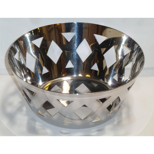 Alessi Stainless Steel Fruit Bowl For Sale - Image 5 of 7