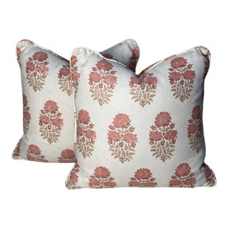 """Lisa Fine's """"Mughal Flower"""" Pillows - a Pair For Sale"""