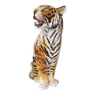 Italian Ceramic Tiger Statue