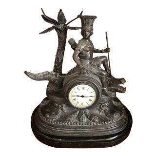 Maitland-Smith Bronze Mantel Clock