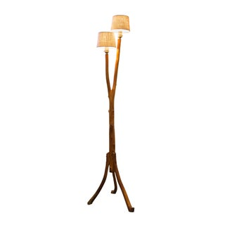 Vintage Folk Art Tree Branch Floor Lamp For Sale