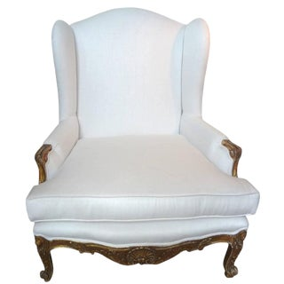 19th Century French Regence Giltwood Marquise Chair For Sale