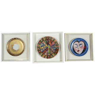 Rosenthal Collectible Set of Three Framed Plates For Sale