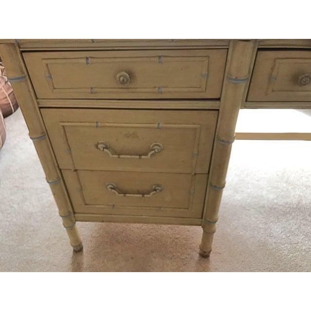 Hollywood Regency 1960s Vintage Regency Thomasville Faux Bamboo Desk Set- 2 Pieces For Sale - Image 3 of 12