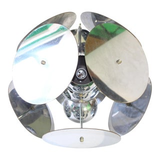 1960s Atomic Pendant Light With Chromed Metal Discs For Sale