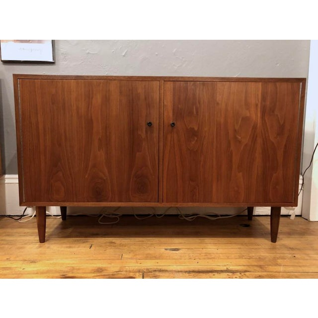 Brown Mid Century Walnut Credenza/Cabinet 1960s For Sale - Image 8 of 8