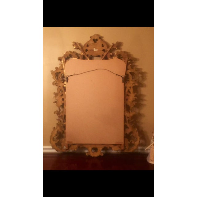 Gold Gilt Ornate Wood Wall Mirror - Image 6 of 6