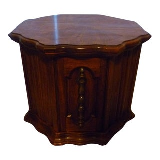 Vintage 1970's Boho Chic Drum Table Storage Quality Made For Sale
