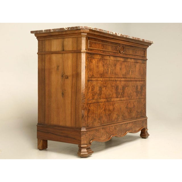 C.1860 Louis Philippe Book-Matched Burled Walnut Commode - Image 2 of 10