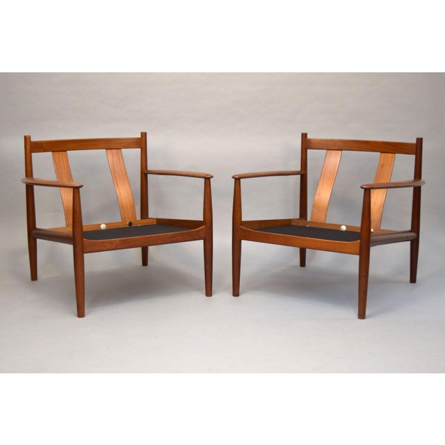 Danish Modern Grete Jalk for France & Son Lounge Chairs - A Pair For Sale - Image 3 of 11