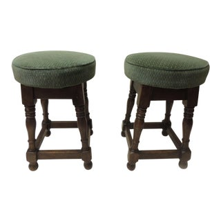 Pair of 19th Century English Pub Stools For Sale
