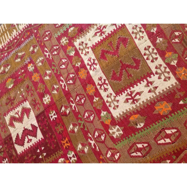"Vintage Turkish Kilim Runner - 4'8"" x 11'4"" For Sale - Image 5 of 6"