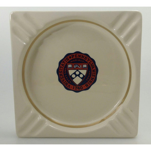 Vintage University of Pennsylvania Ceramic Ashtray - Catchall - Coin Dish - Image 2 of 6