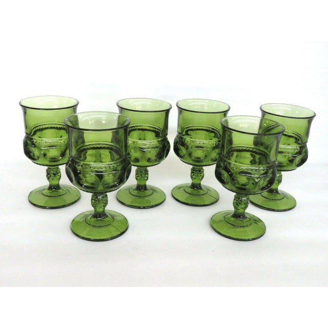 This lovely Set of Six Wine Glasses is made of glass. These Goblets/Glasses have incredible style; they feature a...