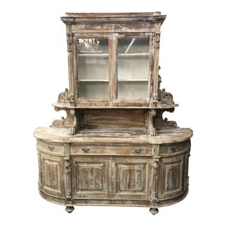 19th C. Louis XIII Distressed Buffet a Deux Corps