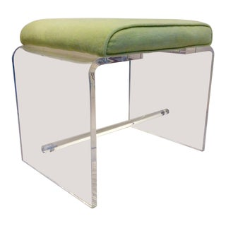 Mid-Century Modern Hollywood Regency Style Lucite Bench For Sale