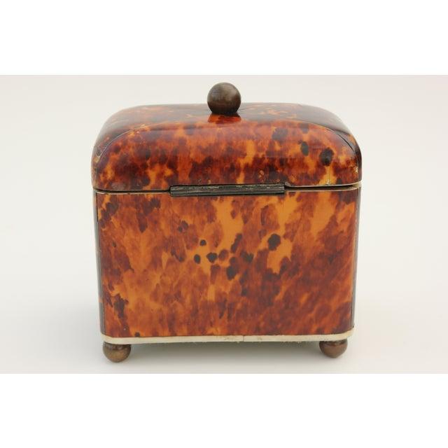 Antique Georgian Tortoiseshell Tea Caddy - Image 3 of 8