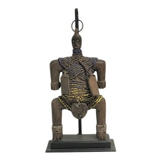 Vintage African Namji Fertility Doll On Custom Iron Stand For Sale