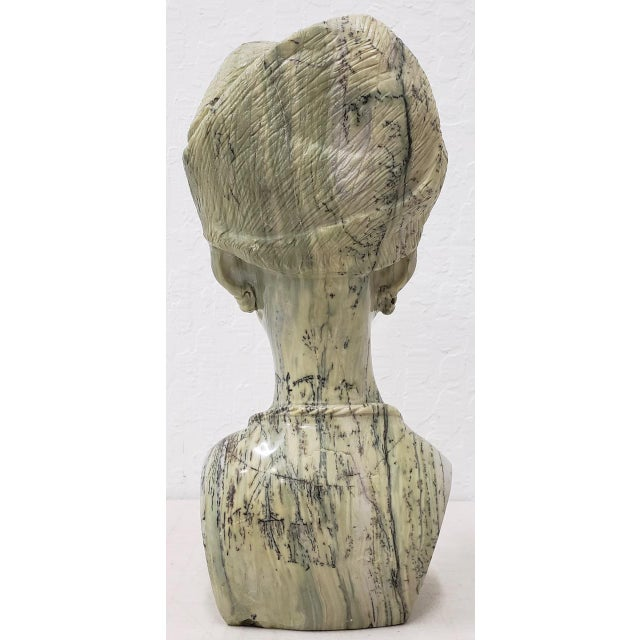 Traditional Marble Sculpture of a Young African Woman by Kakweza For Sale - Image 3 of 6