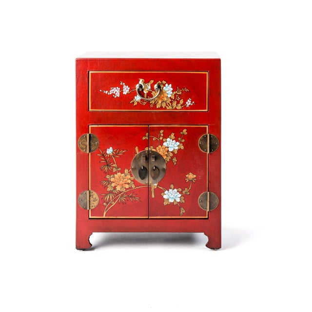 Asian Style Shanxi Handpainted Motif End Table For Sale In New York - Image 6 of 6