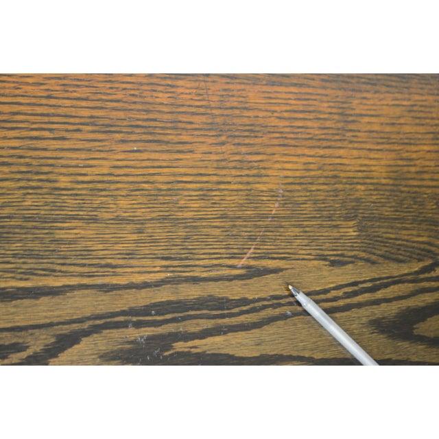 j.k. Rishel Antique Arts & Crafts Mission Oak Library Table Desk No. 811 For Sale - Image 11 of 13