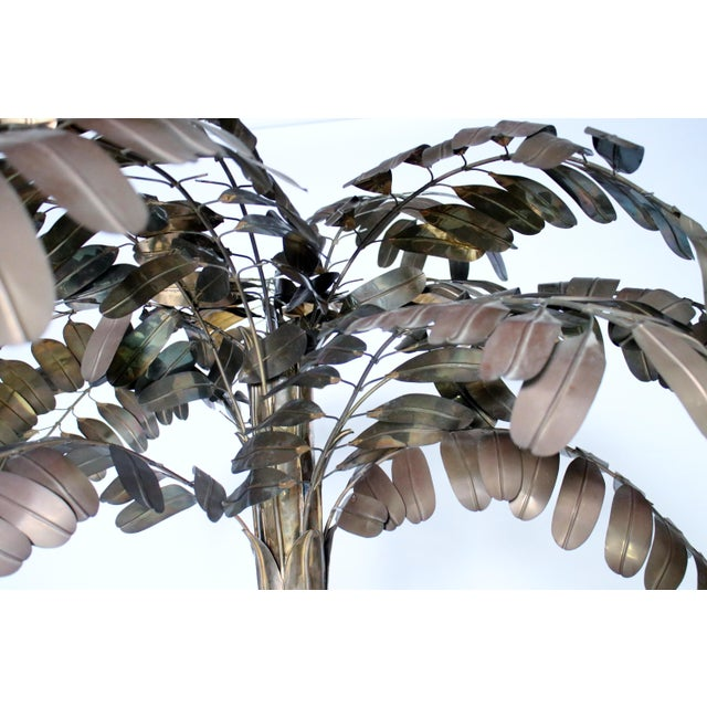 Copper Monumental Metal Palm Tree Sculpture For Sale - Image 7 of 9