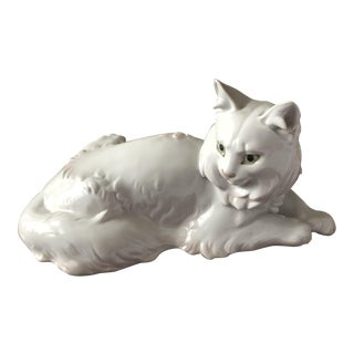 1920s Rosenthal Ceramic Cat Figurine For Sale