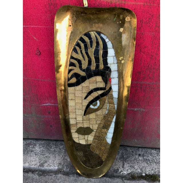 Art Deco 1930s Salvador Teran Hand-Forged Brass Tray / Wall Art For Sale - Image 3 of 10