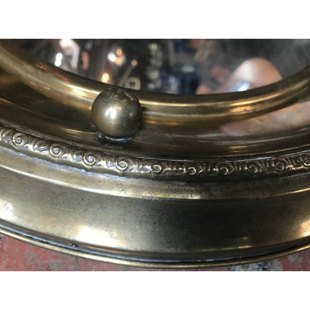 1920s Italian Round Mirror in Brass, 1920 For Sale - Image 5 of 7